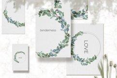 Eucalyptus watercolor wreath, Eucalyptus garland, Greenery Product Image 2