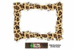 Leopard Grunge Background Frames for Dye Sublimation PNG Product Image 3