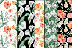 Calla lilies and hibiscus bloom Product Image 1