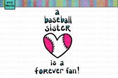 Baseball Sister SVG File, Biggest Fan SVG File, Forever Fan SVG File, Baseball SVG Files for Cricut,  Baseball Sister Shirt SVG, Commercial Use SVG Product Image 1