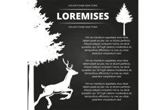 Background with deer and tree Product Image 1