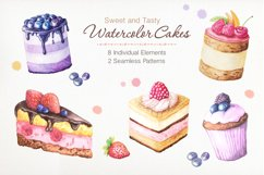 Watercolor Cakes Set Product Image 1