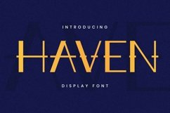 Haven Font Product Image 1
