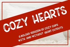Cozy Hearts Font - A bolder version of Cozy Caps with hearts Product Image 1