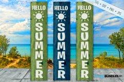 Hello Summer SVG | Porch Sign SVG | Vertical SVG Product Image 1