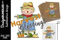 Harvest Blessing Sublimation Design Product Image 1