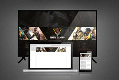 Mafia Gaming Youtube Channel Art and Thumbnail Product Image 1