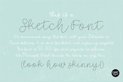 SKETCH FONT BUNDLE - 4 Single Line Fonts Product Image 5