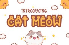 Cat Meow - Cute Display Font Product Image 1