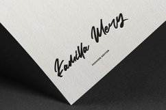 Web Font Quidtness - Clean Brush Stroke Font Product Image 5
