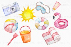 Tropical Clip Art - Watercolor Summer Clipart Product Image 3