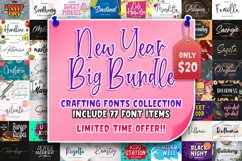 New Year Big Bundle - Crafting Fonts Collection Product Image 1