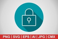 Vector Lock Icon Product Image 1