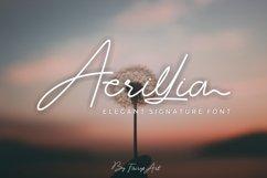 Acrillia elegant signature font Product Image 1