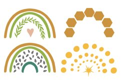 Rainbow clipart BEES and BOTANICALS Product Image 4