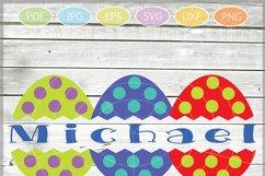 Easter Eggs monogram SVG - Easter bundle mini SVG Product Image 3