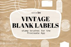 Vintage Blank Label Stamp Brushes for Procreate Product Image 1