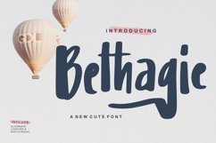 Web Font Bethagie - A New Cute Font Product Image 1