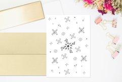 Floral Doodle Ink Pattern, A1, SVG Product Image 1