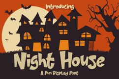 Night House - A Fun Display Font Product Image 1