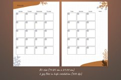 Undated monthly planner A5. Printable Monday week start Product Image 3