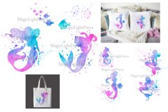 Mermaid clipart, mermaid sublimation download, watercolor Product Image 5
