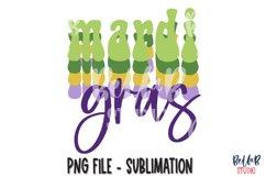 Mardi Gras Sublimation Design, Retro Mardi Gras Product Image 1