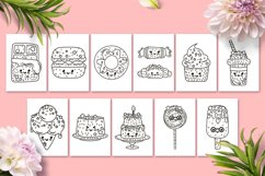 Coloring Pages with Cute Desserts Product Image 2