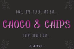 Choco Chips - WEB FONT Product Image 1