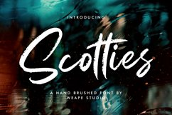 Scotties - Hand Brushed Font Product Image 1