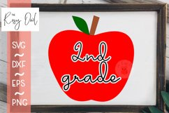 Second Grade Apple SVG PNG DXF EPS Product Image 1