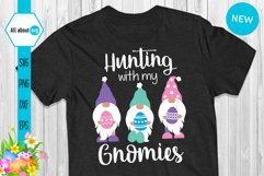 Hunting With My Gnomies, Funny Easter Gnomies Svg Product Image 1