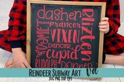Reindeer Subway Art SVG Product Image 2
