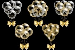 Gold Balloons Clipart Product Image 3