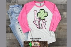 LOVE Pink St Patrick's Day Dye Sublimation PNG Design Product Image 4