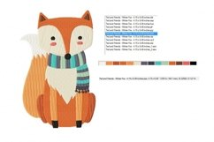 Wintertime Fox Machine Embroidery Design in 2 sizes Product Image 2