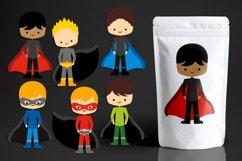 Superhero clipart bundle, boys and girls Product Image 2