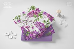 Watercolor Lilac Digital paper bag Product Image 2