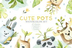 Cute Pots Watercolor Set Product Image 1