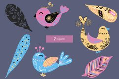Magic birds with nibs in vector for baby staff svg, eps, png Product Image 3
