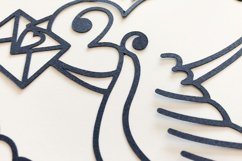 Swallow Paper Cut, Nautical SVG Product Image 4