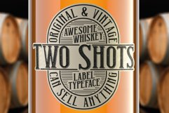 Two Shots label font Product Image 1