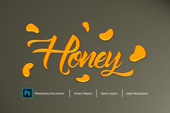 Honey text Effect Design Photoshop Layer Style Effect Product Image 1