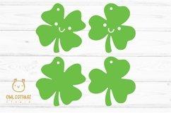 St.Patricks Day Clover Earrings SVG, Shamrock Earrings svg Product Image 2