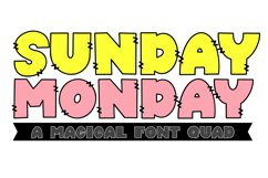 Sunday Monday - A Thick Outline Font Quad Product Image 1