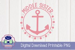 Nautical Middle Sister Sibling Design Product Image 1