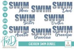 Swim Mom - Swim Dad - Swimming - Swim Bundle SVG Product Image 1