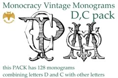 Monocracy Vintage Monograms Pack DC Product Image 1