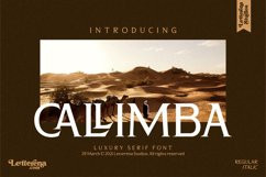 CALLIMBA - Luxury Serif Font Product Image 1