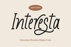 Web Font Interesta - Display Monoline Fonts Product Image 1